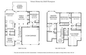 Floor Plans 'The Aspen Creek'